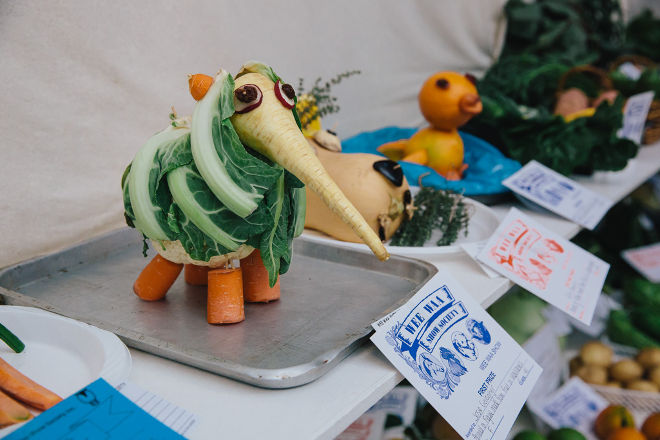 "Winner - ""Animal or figure made from fruit or vegetable"" comp"