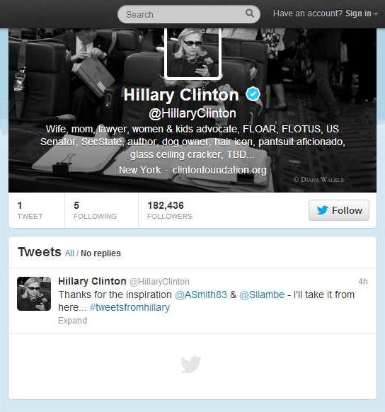 Hillary Clinton (HillaryClinton) on Twitter