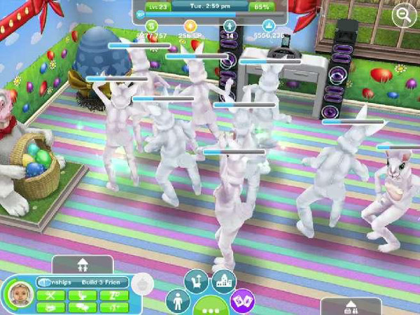 How do you make a baby poop on sims freeplay
