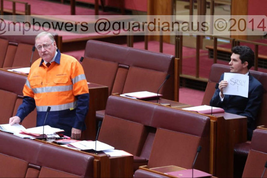This Idiot Senator Wore A Hi-Vis Mining Vest In Parliament And Got Torn To Bits By Everybody