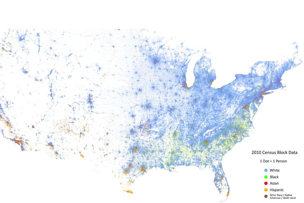 This Endlessly Fascinating Interactive Map Breaks Down The Entire - Interactive map us census