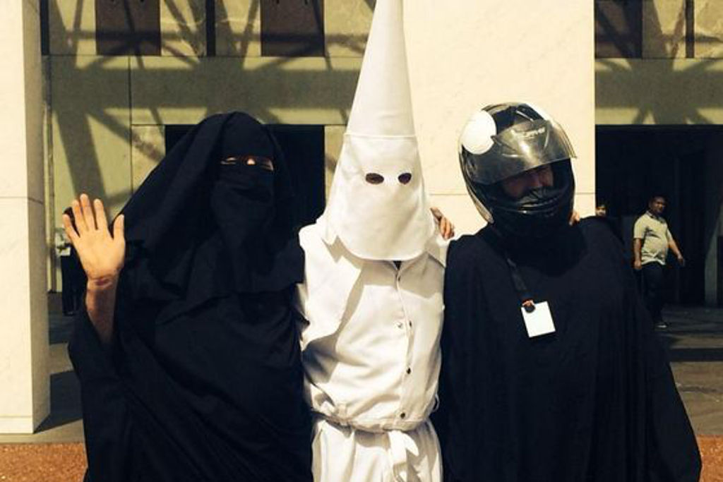 Kkk Halloween Costume Amazon.Three Guys Just Tried To Get Into Parliament House In A Niqab And A