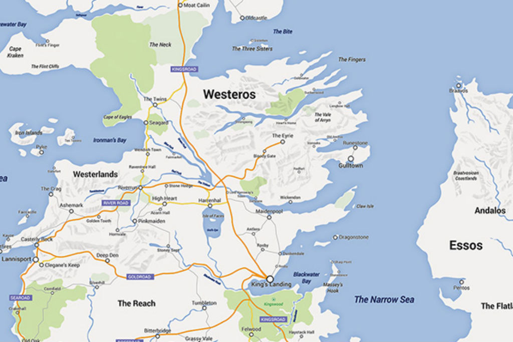 Game Of Thrones Subway Map.Someone Made A Google Map Of Westeros From Game Of Thrones If