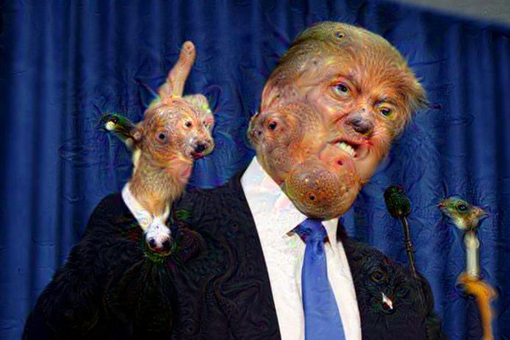 Donald Trump As Imagined By Google's Deep Dream Interface Is