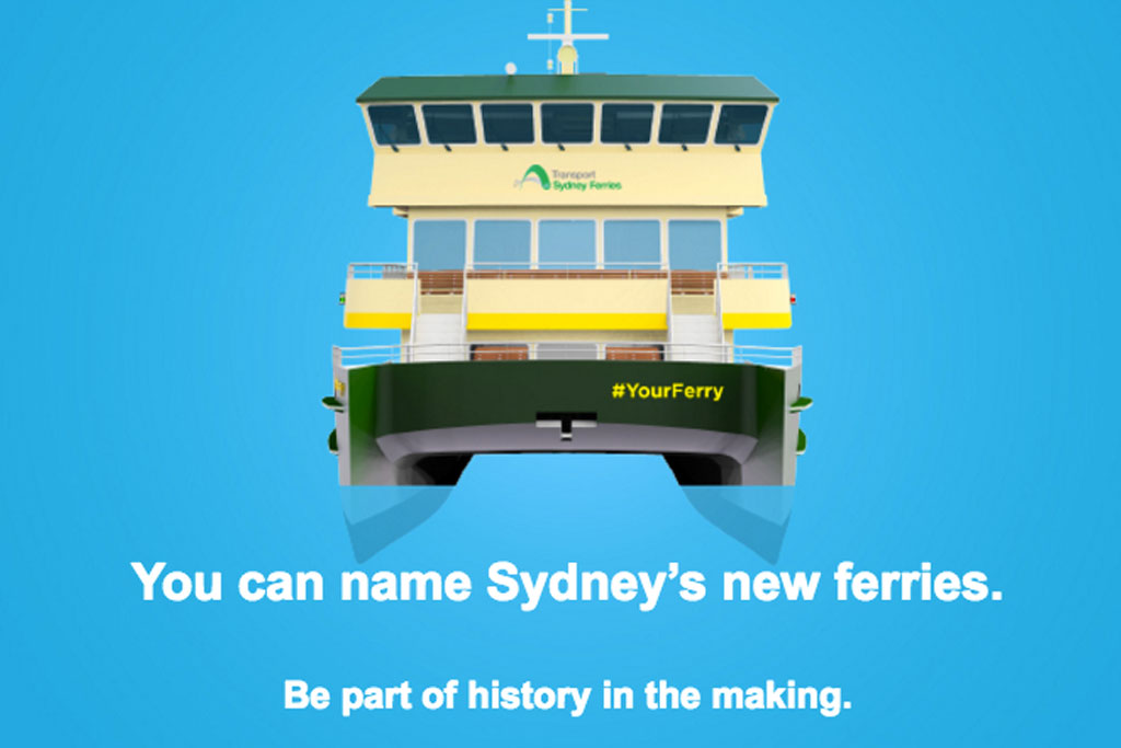 NSW Transport Is Letting The Public Name Six New Ferries