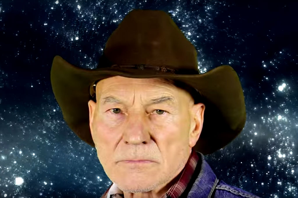 d56fdc4af2e97 It Is Very Important That You Watch This Video Of Patrick Stewart Singing  Classic Cowboy Songs