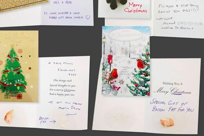 An australian muslim group has been sent abusive christmas cards an australian muslim group has been sent abusive christmas cards covered in pig fat m4hsunfo