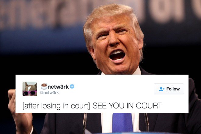trump donald trump just lost a huge court case and his dumb tweet about,You Are Dumb Meme