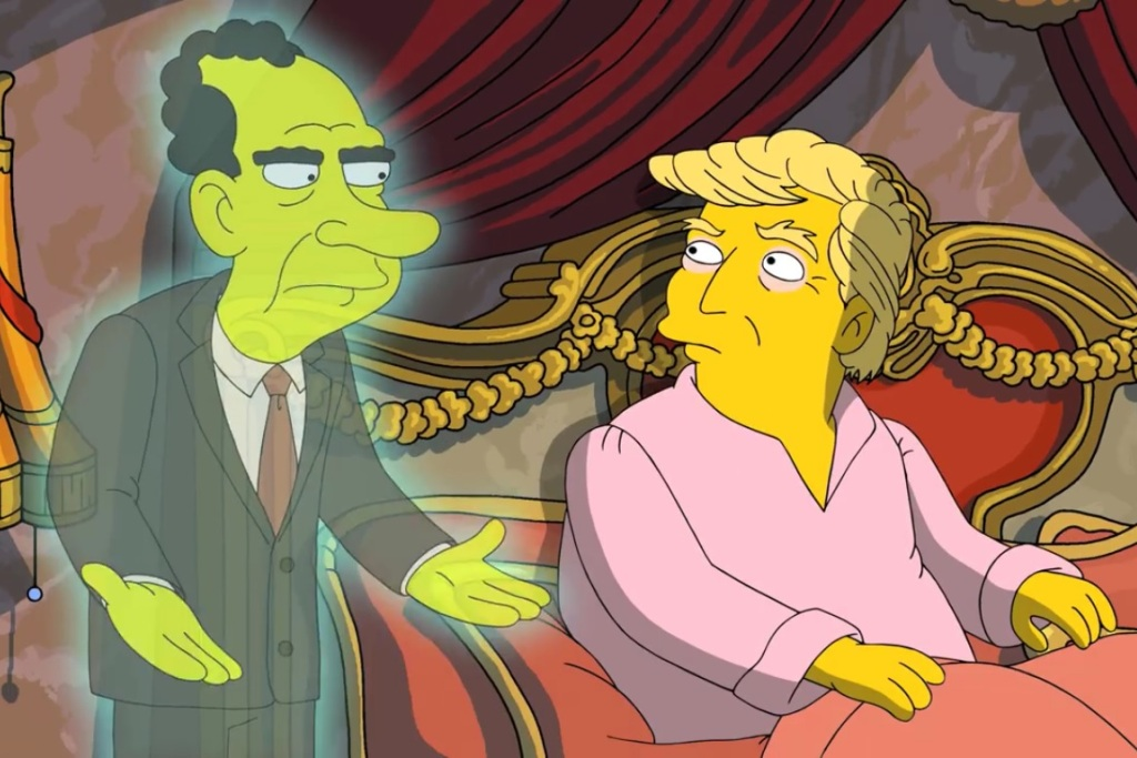 'The Simpsons' Skewers Trump With Visit from Richard Nixon's Ghost