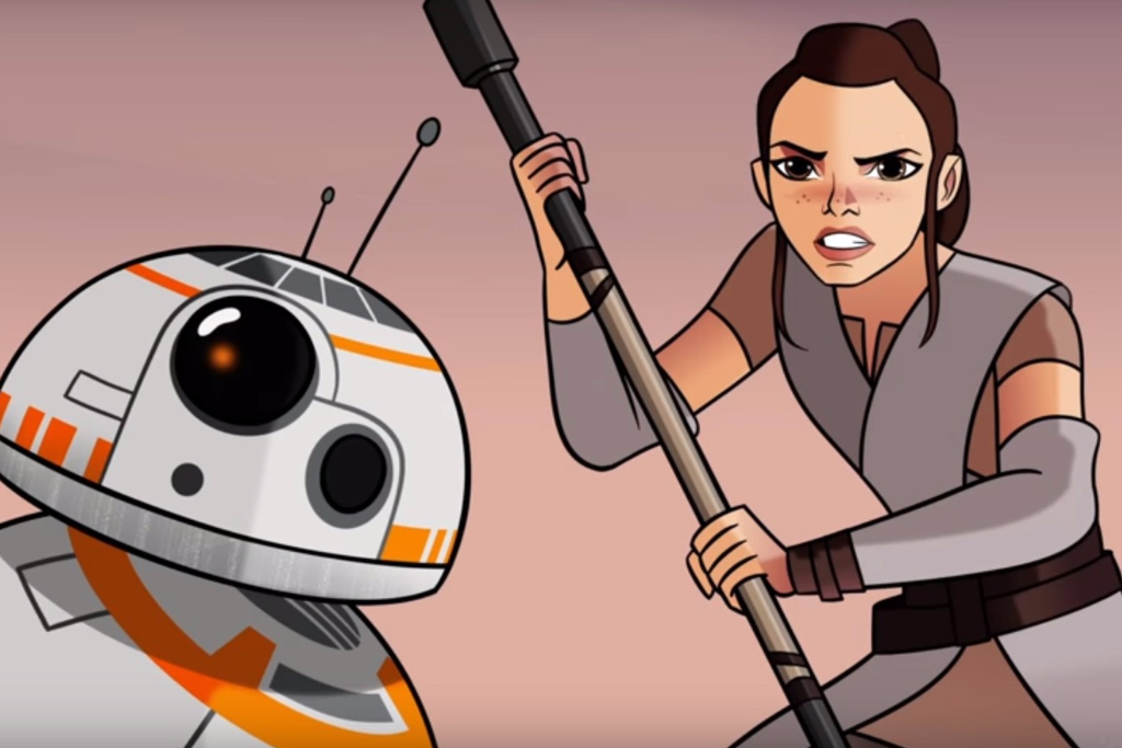 First 'Star Wars: Forces of Destiny' Clip Fixes Rey Plot Hole