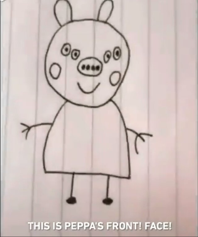 Front Facing Pictures Of Peppa Pig Are Terrifying And Wrong