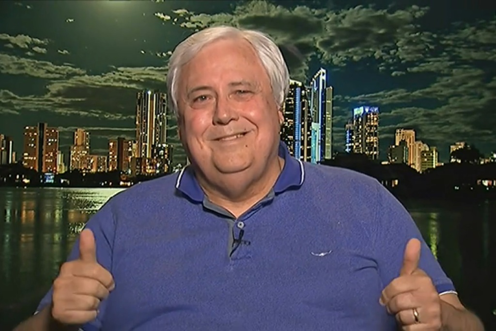 Clive Palmer challenges Twisted Sister to sing off