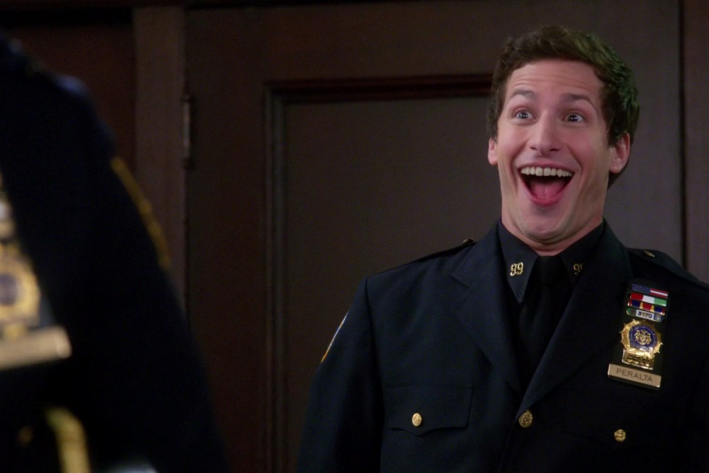 Andy Samberg as Jake Peralta in Brooklyn Nine-Nine