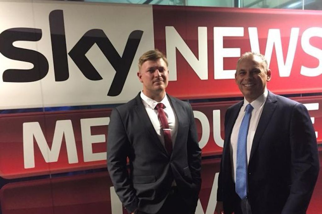 Sky News apologises for airing interview with far-right nationalist Blair Cottrell