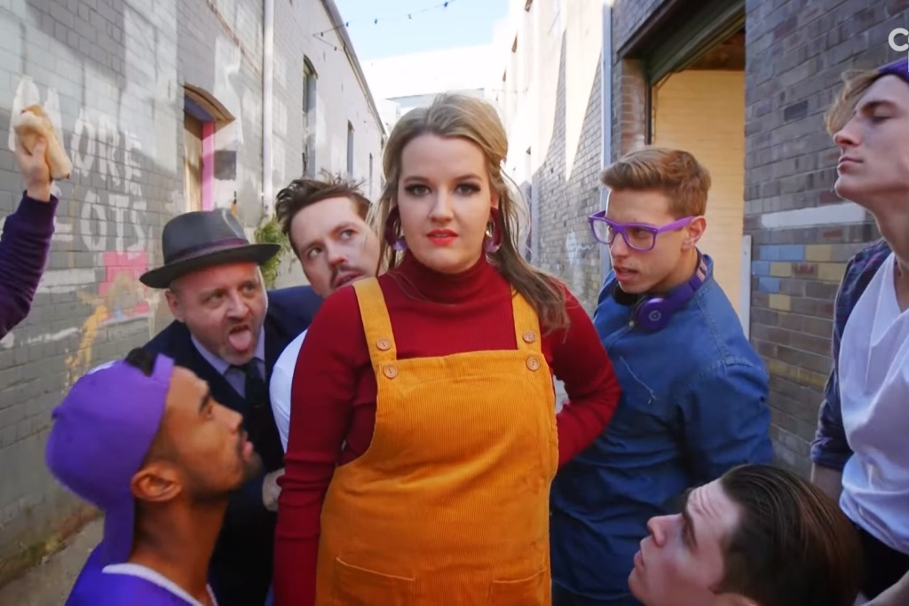 Tonightly's sex pest sketch has been nominated for an ARIA.