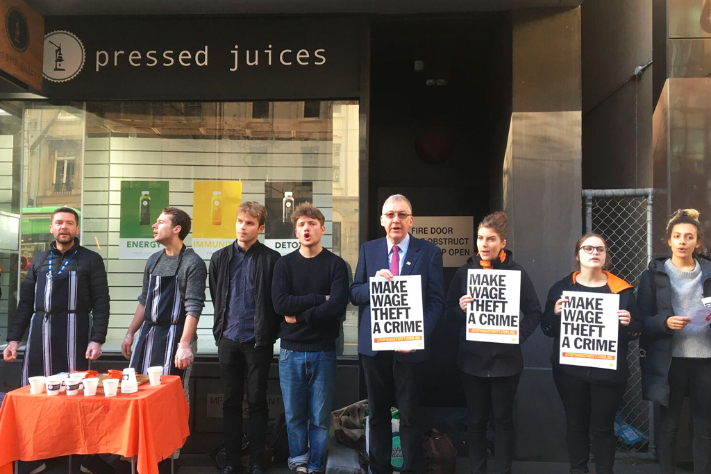 pressed juices wage theft