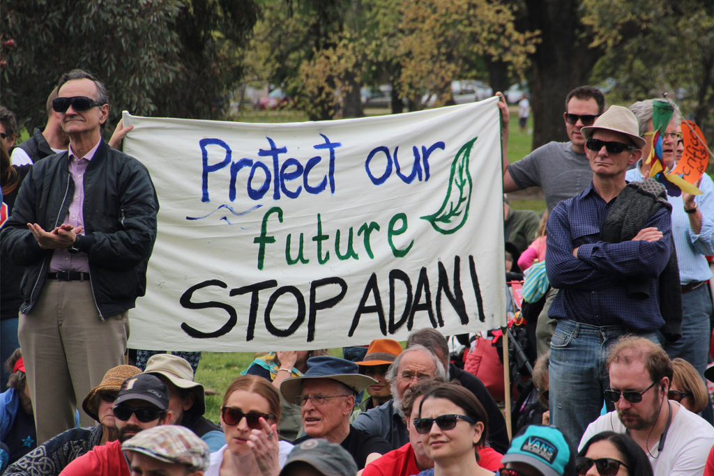 Stop adani water licence protest