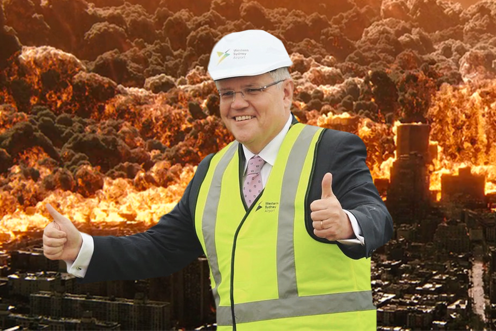 Scott Morrison's response to the UN report on climate change is embarrassing.