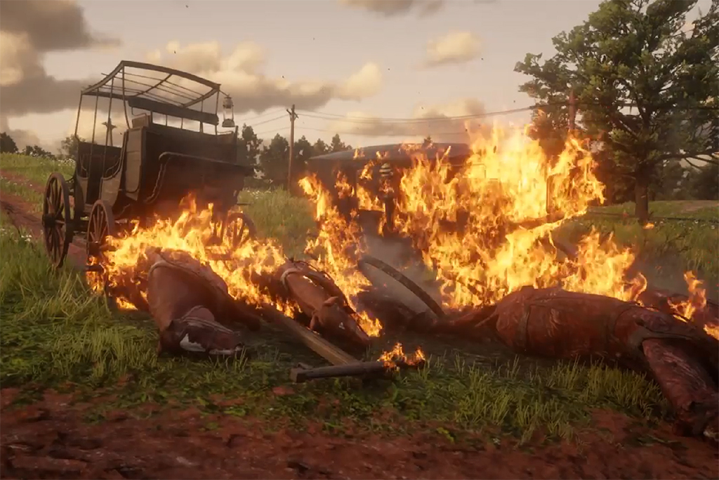 Red Dead Redemption 2 Invisible Fire Glitch Is Setting