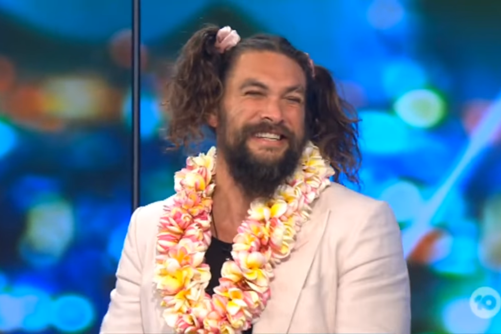 Jason Momoa In Pigtails On The Project Is Living His Best Life
