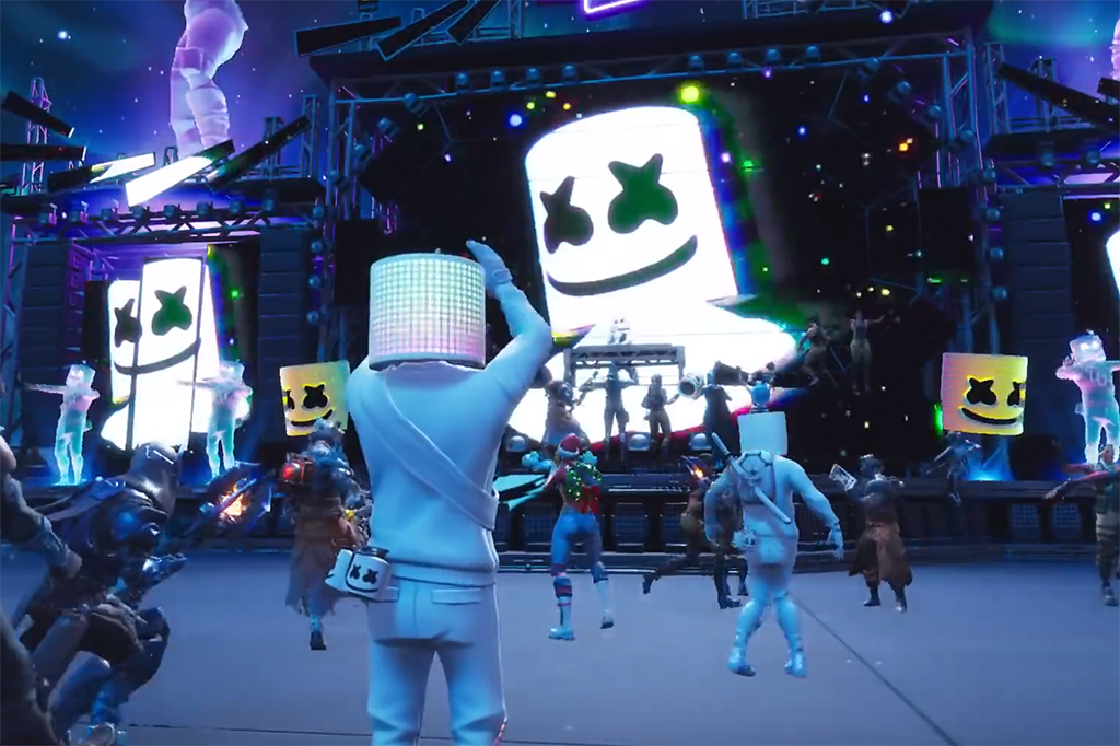 Marshmello concert in Fortnite