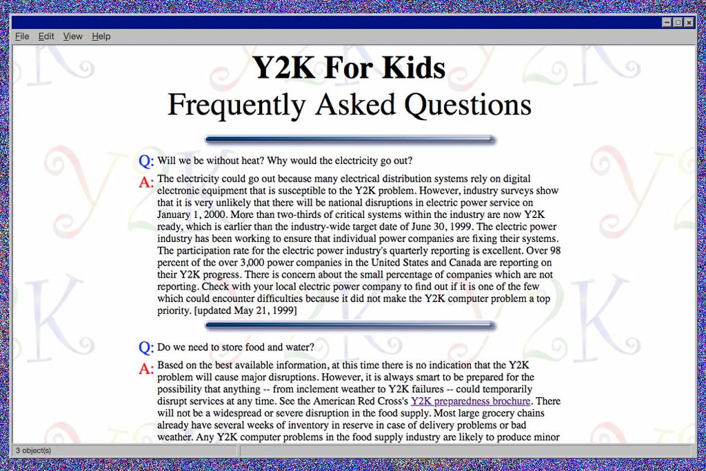 The US government's 'Y2K for kids' website