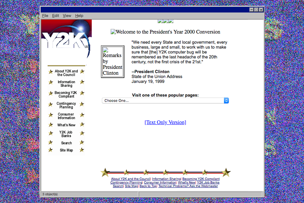 US government Y2K website