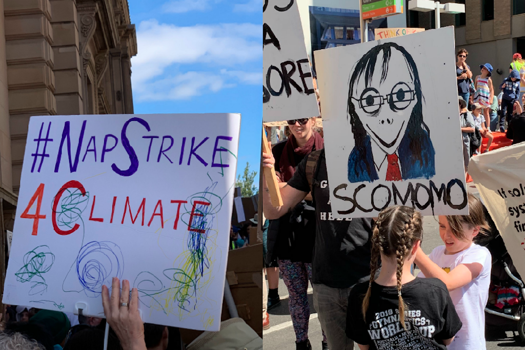 Climate Strike photo funny signs