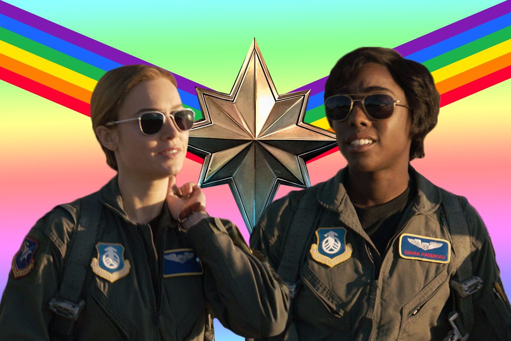 Captain Marvel is gay, obviously