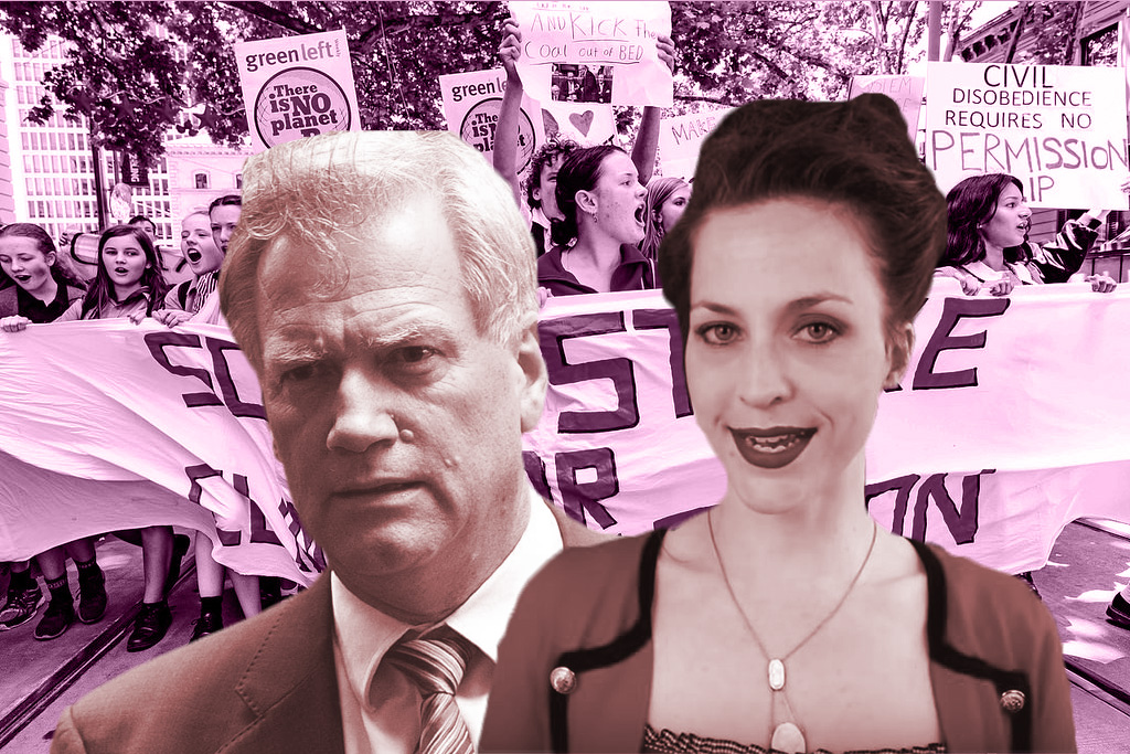 Daisy Cousens and Andrew Bolt are among conservative commentators that have rallied against the climate strike