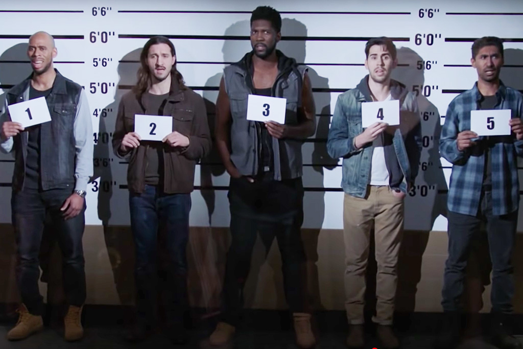 Police lineup singing Backstreet Boys on Brooklyn Nine-Nine