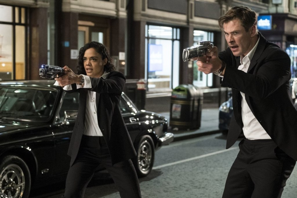 Chris Hemsworth and Tessa Thompson in Men In Black: International trailer