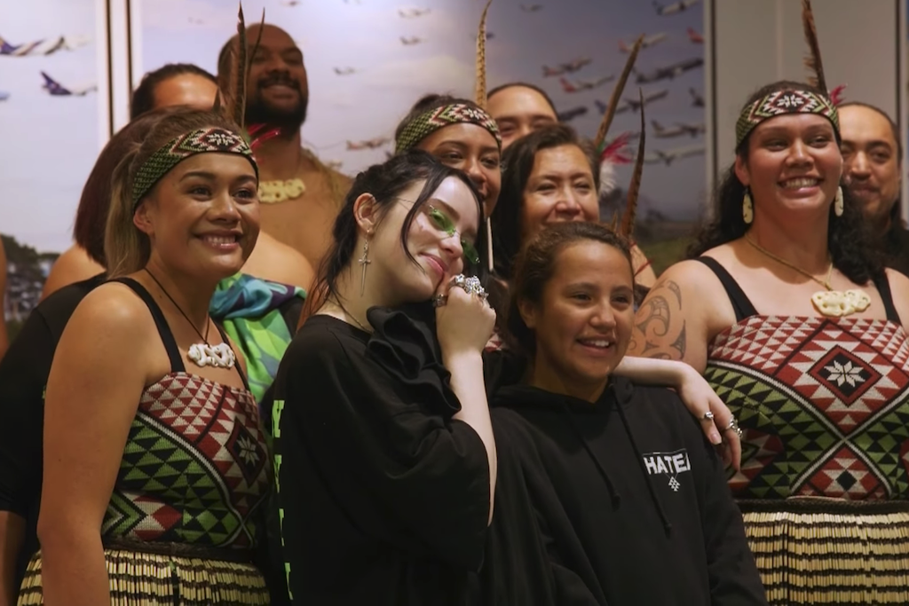 Billie Eilish and Hātea Kapa Haka