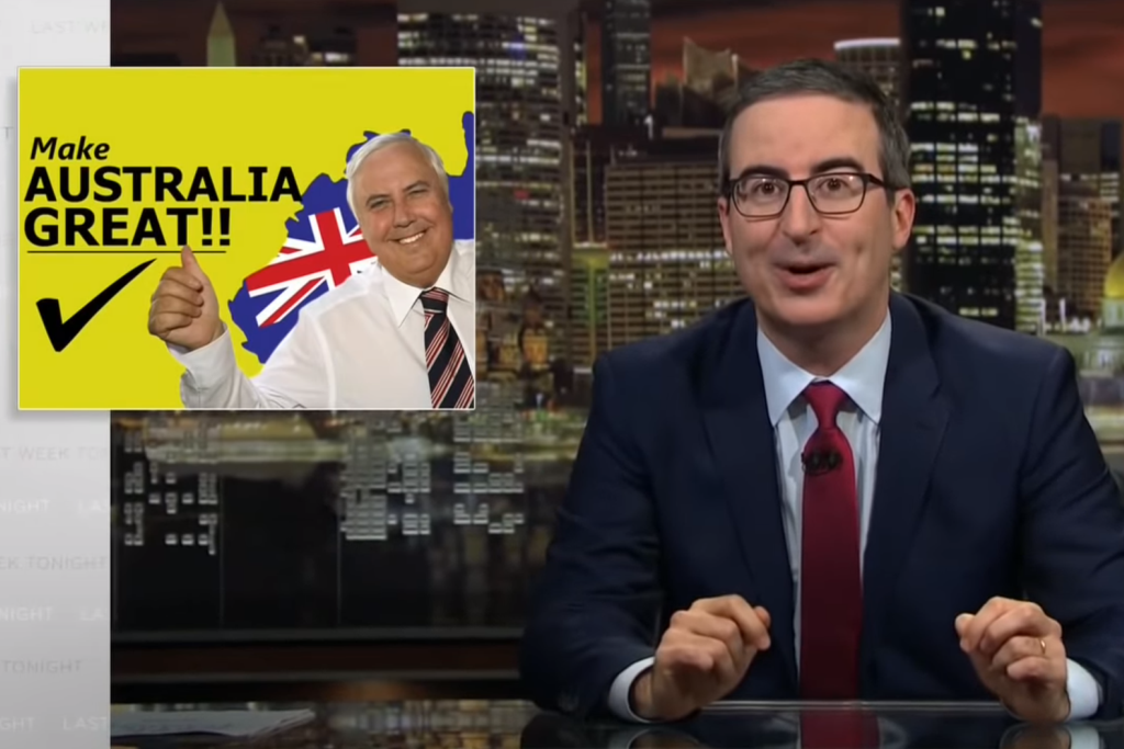 John Oliver tears into Clive Palmer on Last Week Tonight