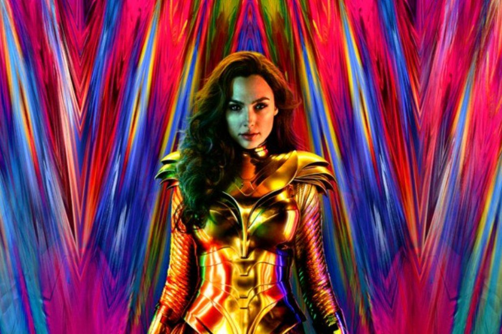 Gal Gadot in the very 80s poster for Wonder Woman 1984 How To Watch The DC Extended Universe In Chronological Order