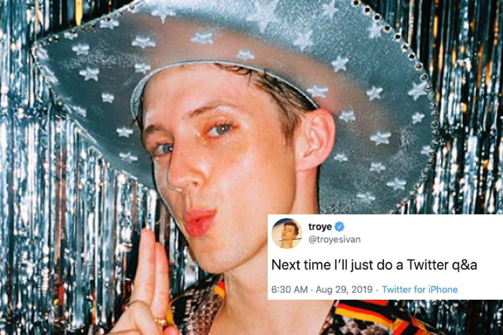 Troye Sivan speaks out against interview which asks if he's a top or bottom
