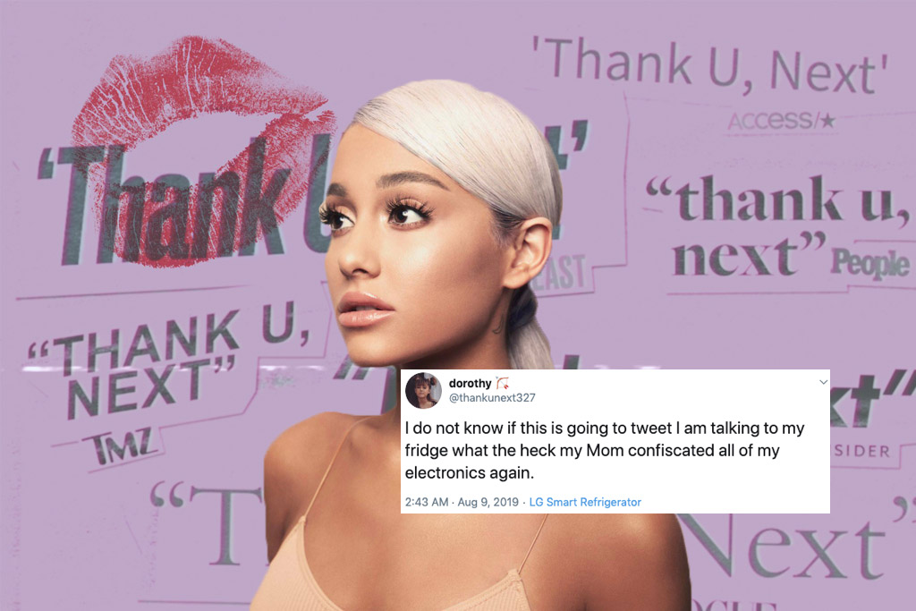 Ariana Grande fan twitter @thankunext327 has been grounded
