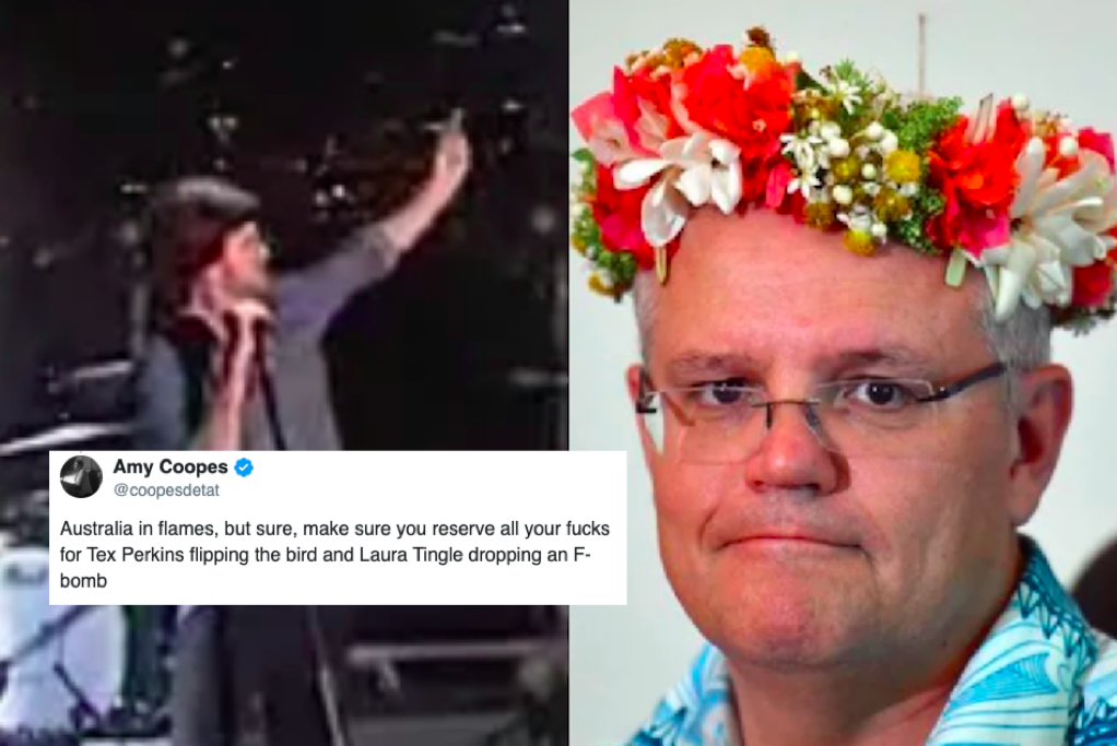 Outrage over Tex Perkins' one-finger salute on ABC New Years' broadcast is a distraction