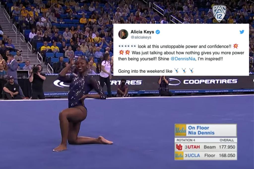 Gymnast Nia Dennis' Viral Floor Routine