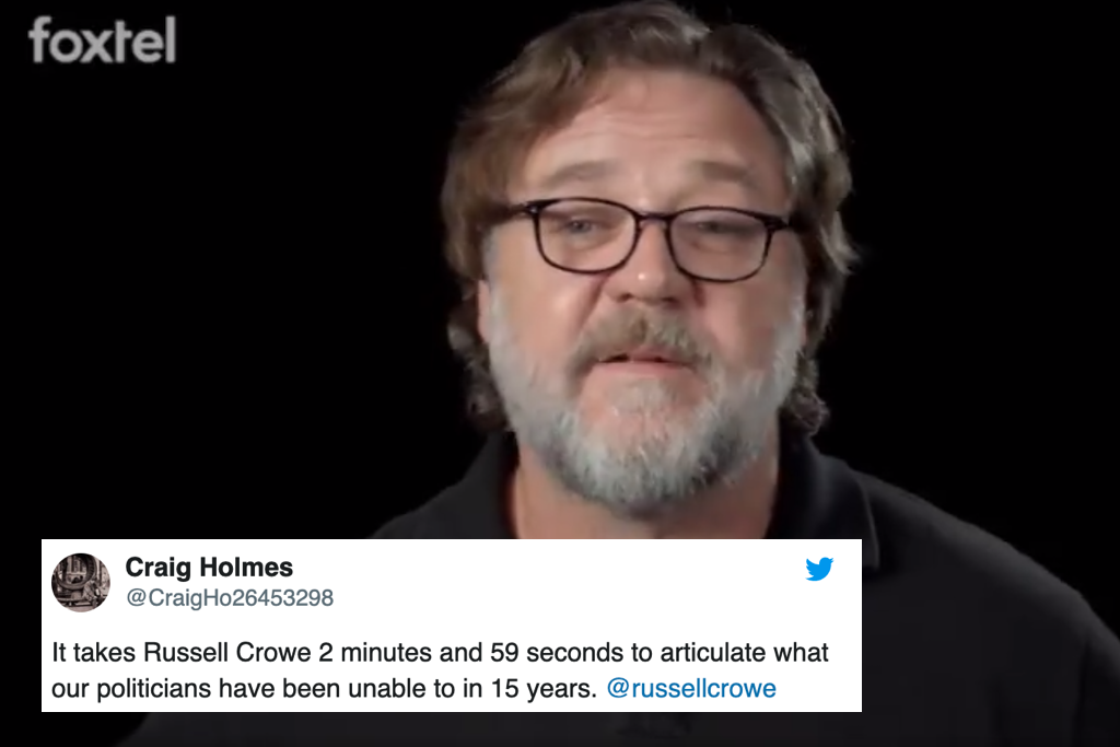 Russell Crowe Neatly Summarised What We Need To Do To Address Climate Change