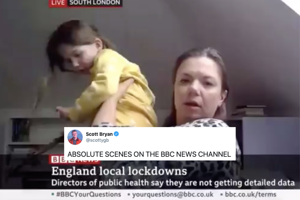 BBC Interview Crashed By Vocal Daughter With Unicorn Painting