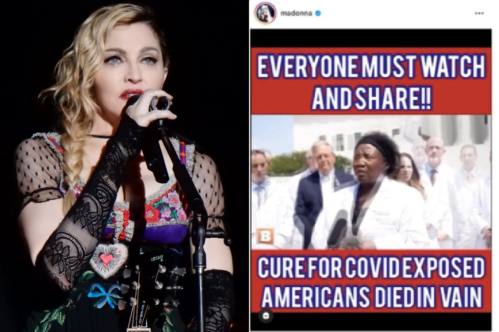 Madonna Posts Bogus Viral Video About the 'Truth' of Coronavirus