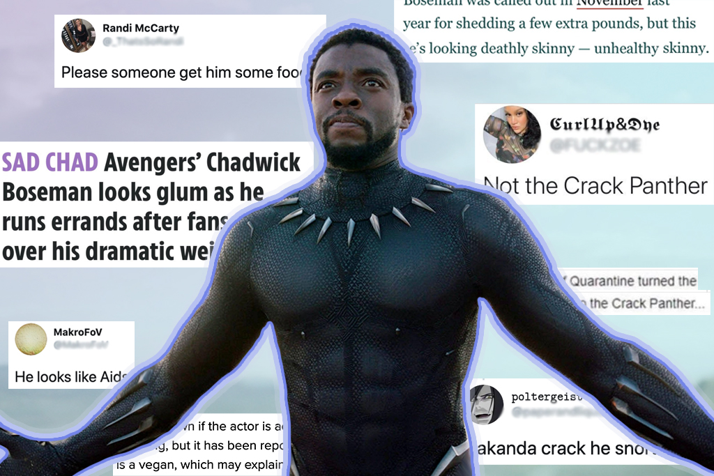 Chadwick Boseman weight comments death