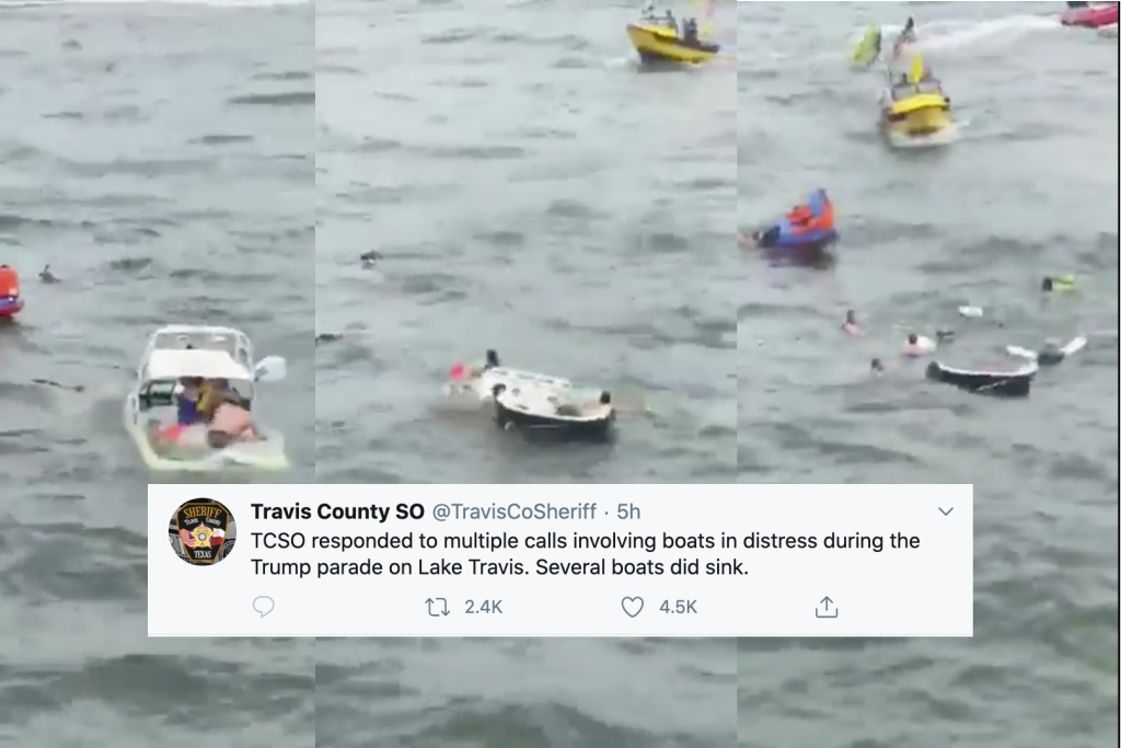 Photo of It's Very Funny How Many Boats Sank During Trump's Stupid Boat Parade