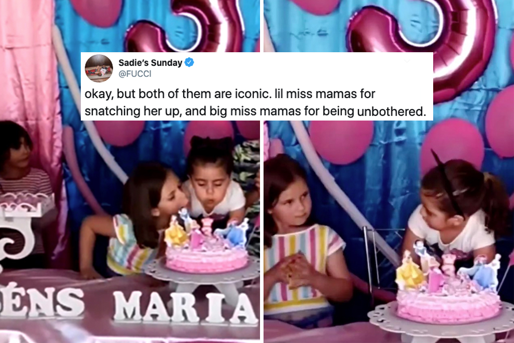 This Chaotic Birthday Candle Fight Sums Up What Having A Sister Is Like