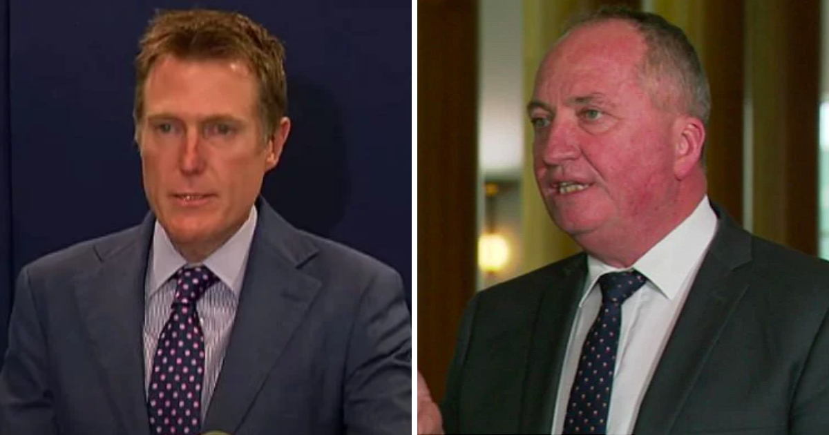 Barnaby Joyce Defends Christian Porter After Ministerial Resignation