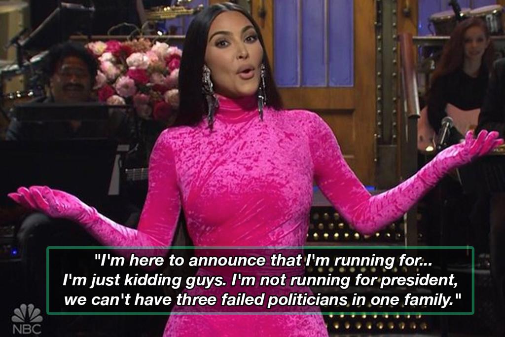 Kim Kardashian hosting Saturday Night Live S47E2